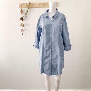 Joie Chambray Button Down Shirt Dress